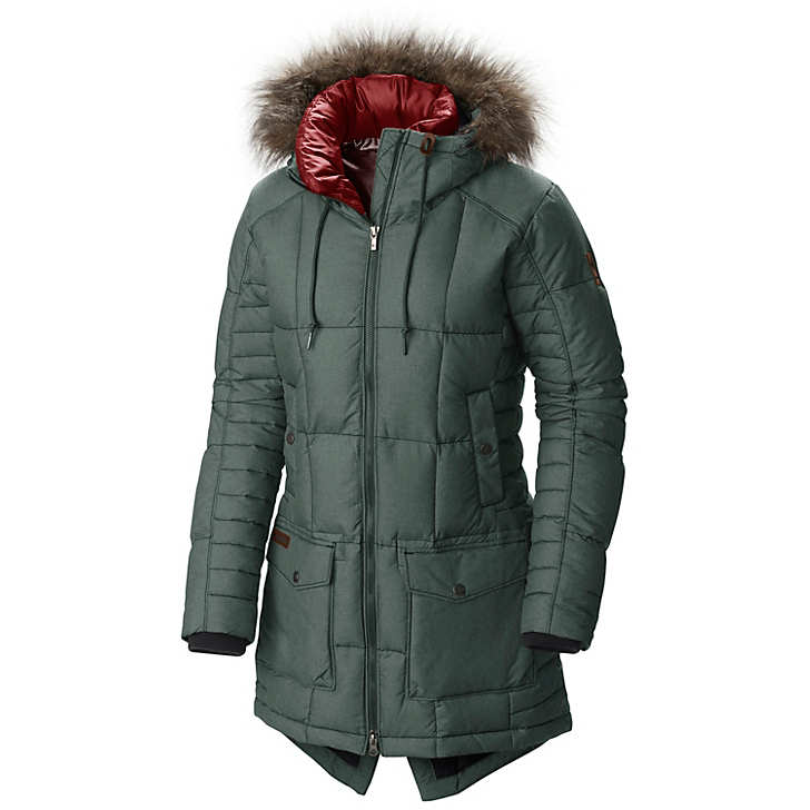 Columbia Women's Della Fall Mid Hooded Down Jacket